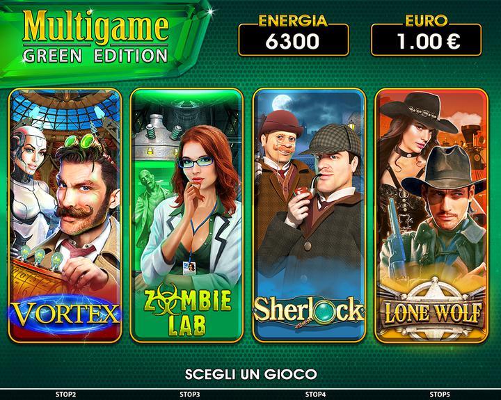 Multigame Green menu